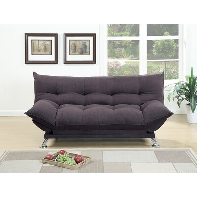 Maas Velvet Fabric Cushion Adjustable Convertible Sofa Upholstery: Gray