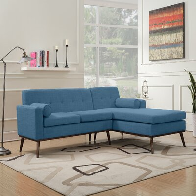 Charlcombe Mid Century Modern Modular Sectional Sofa Upholstery: Muted Blue