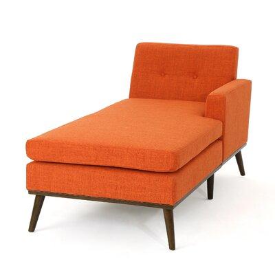 Charlcombe Mid Century Chaise Lounge Upholstery: Muted Orange