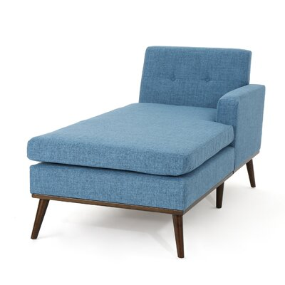 Charlcombe Mid Century Chaise Lounge Upholstery: Muted Blue