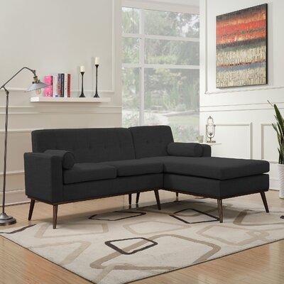 Charlcombe Mid Century Modern Modular Sectional Sofa Upholstery: Muted Dark Gray