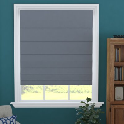 Blackout Gray Roman Shade Blind Size: 24 W x 60 L