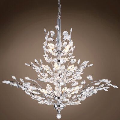 Mefford 13-Light Crystal Chandelier Finish: Clear, Bulb Type: LED, Crystal Grade: Swarovski