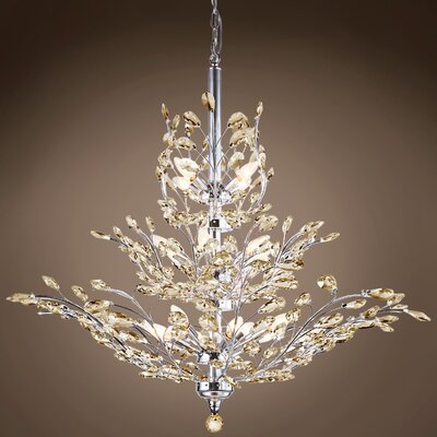 Mefford 13-Light Crystal Chandelier Finish: Cognac, Bulb Type: LED, Crystal Grade: European