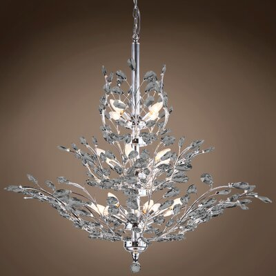 Mefford 13-Light Crystal Chandelier Finish: Smoke, Bulb Type: LED, Crystal Grade: European