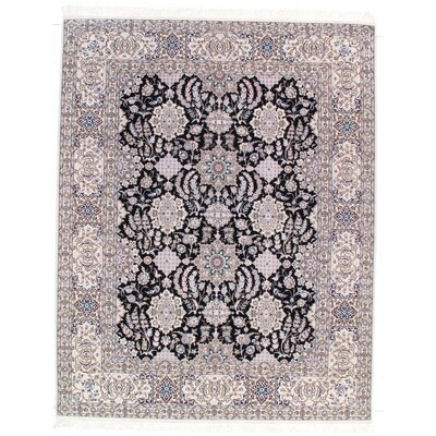 Genuine Persian Hand-Knotted Wool Navy/Gray Area Rug