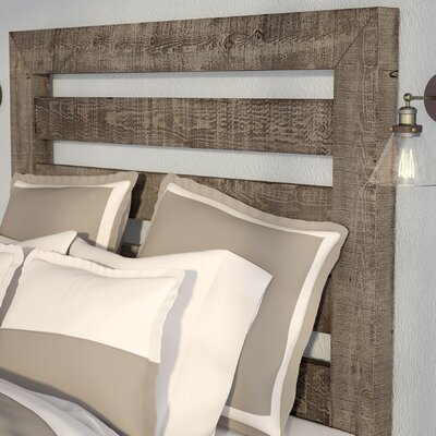 Castagnier Slat Headboard Size: King, Color: Weathered Grey