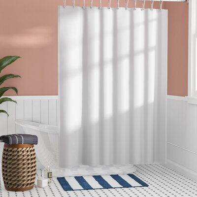 Santalaris Fabric Shower Curtain Liner Color: White