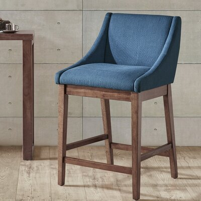 West Drive 25 Bar Stool Color: Blue
