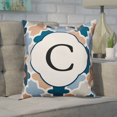 Comstock Monogram Throw Pillow Letter: C