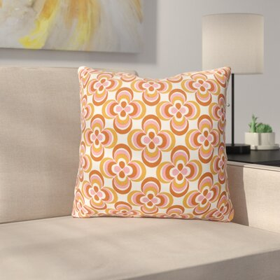 Murrin Cotton Throw Pillow Color: Orange Multi