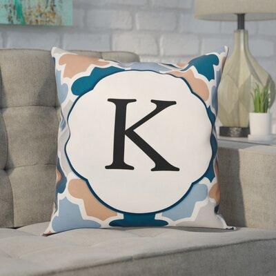 Comstock Monogram Throw Pillow Letter: K
