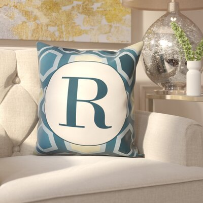 Hartig Hexagon Monogram Pillow Letter: R