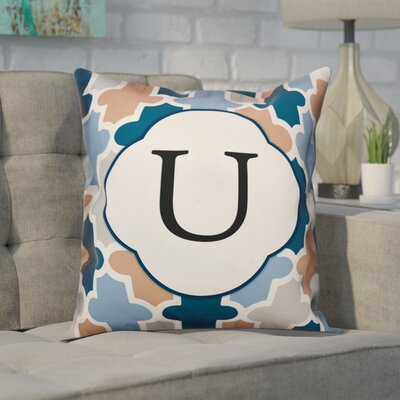 Comstock Monogram Throw Pillow Letter: U