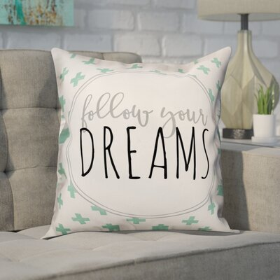 Delrosario Follow Your Dreams Swiss Crosses�Throw Pillow