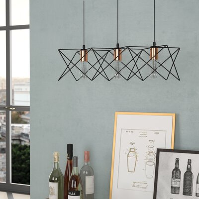 Amdt 3-Light Kitchen Island Pendant