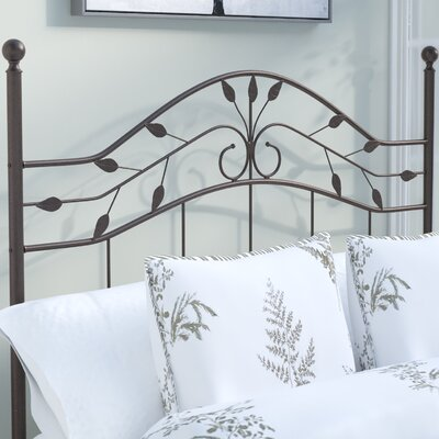 Madawaska Traditional Open-Frame Headboard Size: Queen, Frame Finish: Hammered Copper