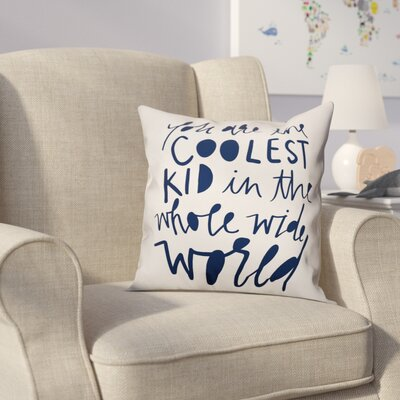 Saul Kid Throw Pillow Color: Blue