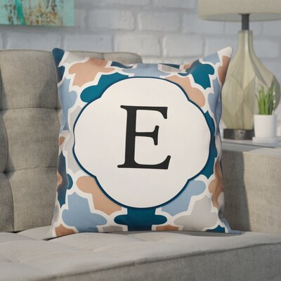Comstock Monogram Throw Pillow Letter: E