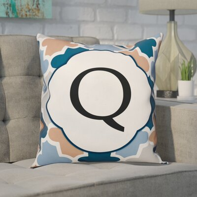 Comstock Monogram Throw Pillow Letter: Q