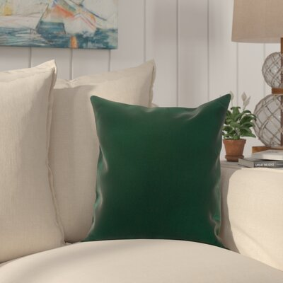 Heger Throw Pillow Color: Forest Green, Size: 18 x 18