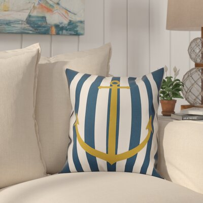 Dimarco Nautical Anchor Striped Throw Pillow