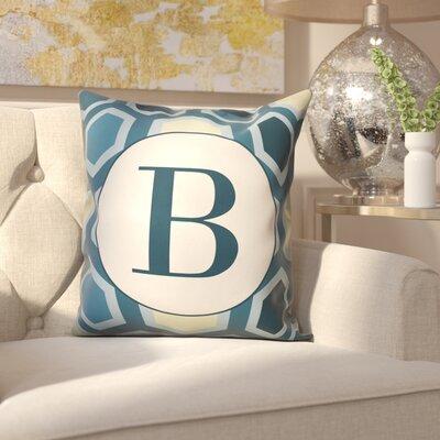 Hartig Hexagon Monogram Pillow Letter: B