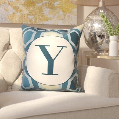 Hartig Hexagon Monogram Pillow Letter: Y