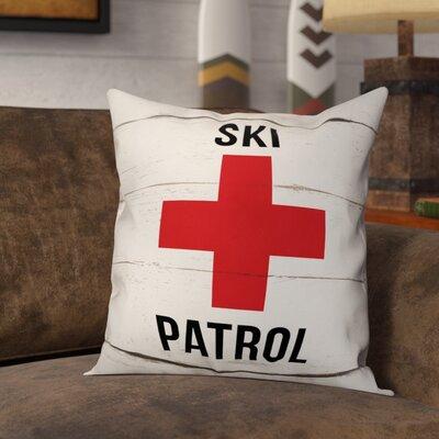 Lower Vobster Ski Patrol Throw Pillow
