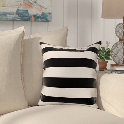 Dimaggio Stripes Throw Pillow Color: Black