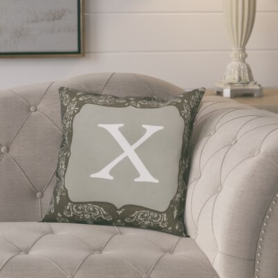 Krahn Damask�Monogram Throw Pillow Letter: X