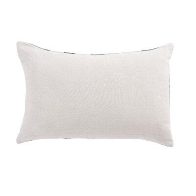Living Priscilla Geometric Linen Lumbar Pillow