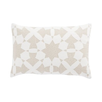 Living Casino Geometric Linen Lumbar Pillow Color: Beige/Ivory, Fill: Polyester / Polyfill