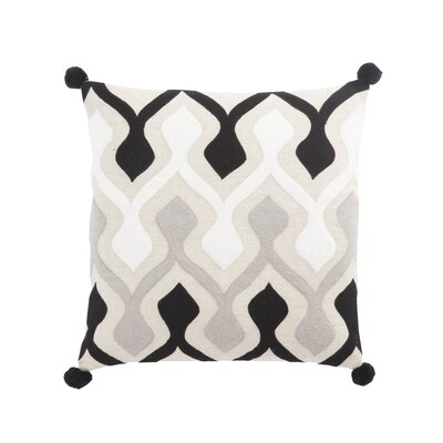 Living Ophelia Graphic Linen Throw Pillow Color: Black/Ivory, Fill: Down / Feather