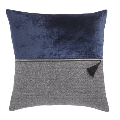 Living Kirat Textured Throw Pillow Color: Blue/Gray, Fill: Down / Feather