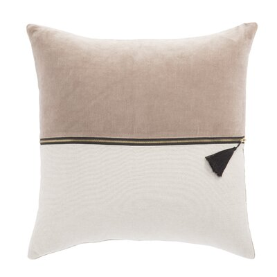 Living Kirat Textured Throw Pillow Color: Pink/Ivory, Fill: Polyester / Polyfill