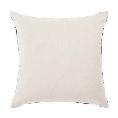 Living Danceteria Geometric Linen Throw Pillow Color: Black/Ivory, Fill: Down / Feather