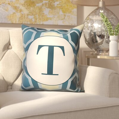 Hartig Hexagon Monogram Pillow Letter: T