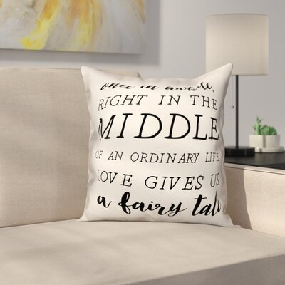 Oquendo Fairytale Quote Throw Pillow