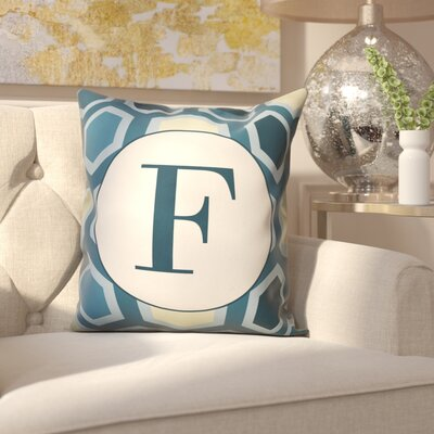 Hartig Hexagon Monogram Pillow Letter: F