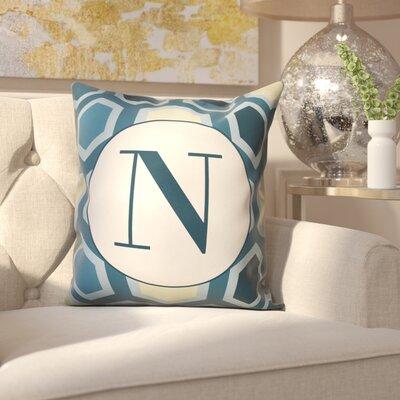 Hartig Hexagon Monogram Pillow Letter: N