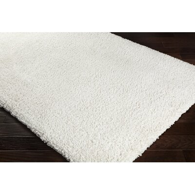 Cassady Hand-Woven Solid Ivory Area Rug Rug Size: Rectangle 8 x 10