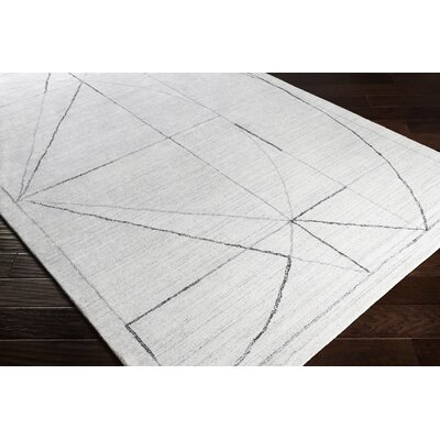 Seifert Hand-Woven Charcoal/Gray Area Rug Rug Size: Rectangle 6 x 9