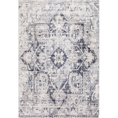 Ramey Vintage Oriental Taupe/Gray Area Rug Rug Size: Rectangle 76 x 96