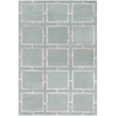 Laffoon Hand-Tufted Khaki Area Rug Rug Size: Rectangle 2 x 3