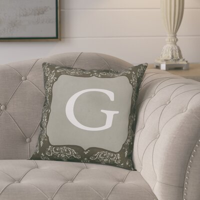 Krahn Damask�Monogram Throw Pillow Letter: G