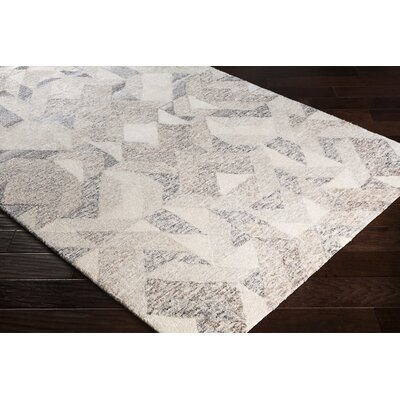 Chaput Hand-Woven Ivory/Light Brown Area Rug Rug Size: Rectangle 6 x 9