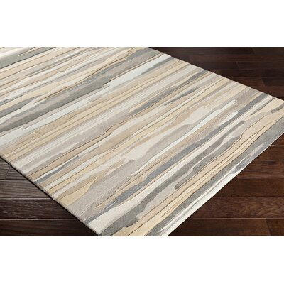 Farlow Hand-Woven Tan/Gray Area Rug Rug Size: Rectangle 2 x 3