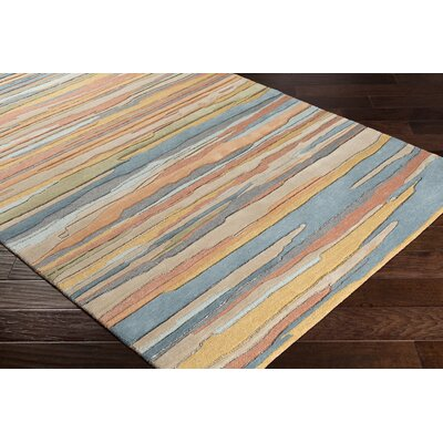 Farlow Hand-Tufted Khaki/Navy Indoor/Outdoor Area Rug Rug Size: Rectangle 8 x 10