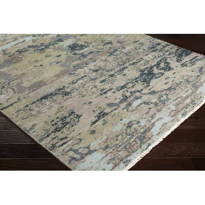 Pelayo Hand-Knotted Wool Blue/Green Area Rug Rug Size: Rectangle 9 x 13